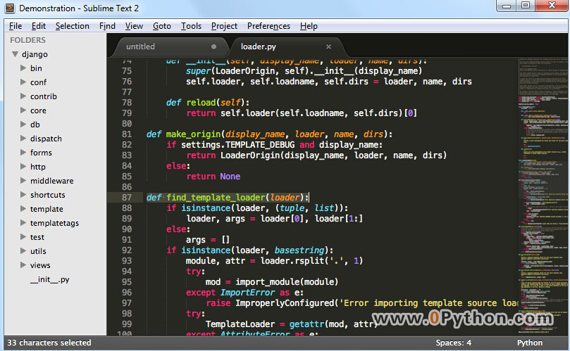 Sublime Text - Python IDE集成开发环境